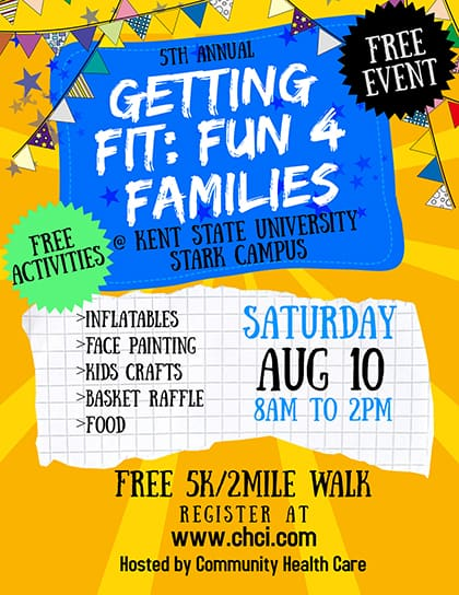 Register for the Getting Fit Fun For Families 2019